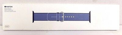 Apple - Woven Nylon for Apple Watch 38mm  MP222AM/A - Navy/Tahoe Blue #303