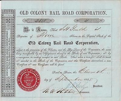 Old Colony Rail Road Corporation 1848 (4 Shares)