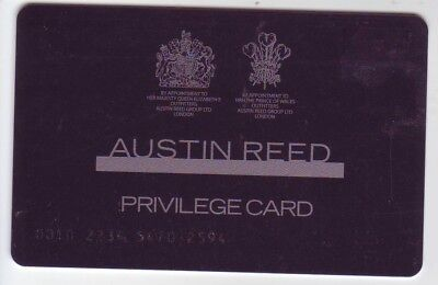 Austin Reed Privilege Loyalty Card Cc Country Casuals Viyella Advertising 1 25 Picclick Uk