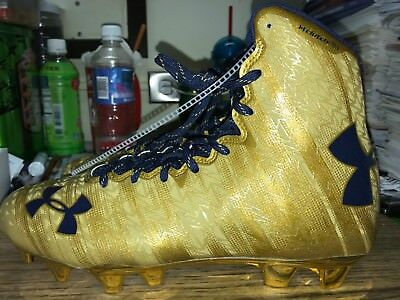 Under Armour Highlight MC Lacrosse LAX Cleats Womens 9 Metallic Gold 1294746 795
