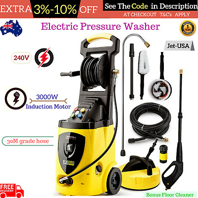 Jet USA 3800 PSI High Pressure Washer Cleaner Electric Water Gurney Pump Hose AU
