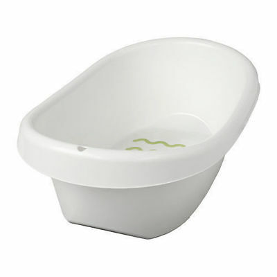 IKEA LÄTTSAM Baby Bath TUB,Stands Steady Soft anti-slip Protection,White Green