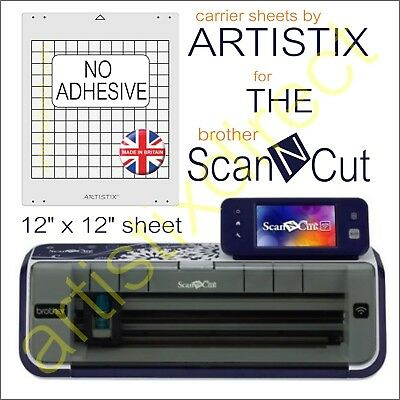 Scan N Cut Artistix Plain Non Adhesive Cutting Mat Carrier Sheet 12 x 12 Brother