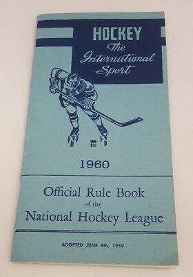 1960 Official Rule Book of the National Hockey League