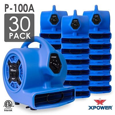 XPOWER P-100A 1/8 HP Mini Air Mover Carpet Dryer Blower Floor Fan 30 Pack