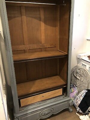 Mahogany Antique French Armoire with mirror