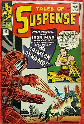 Tales of Suspense 46 1963 1st appearance of Crimson Dynamo vf