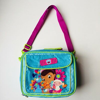 14ec97ae10cd DISNEY DOC MCSTUFFINS Girls Insulated Lunch Bag Handbag Tote Bag NEW ...