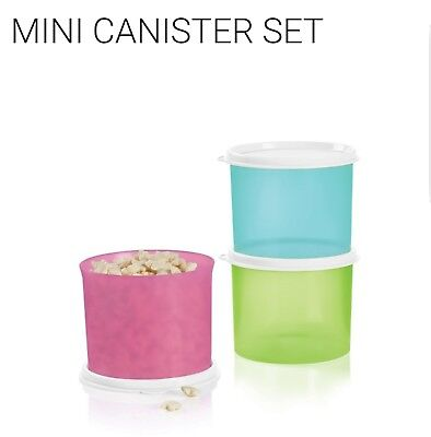 Tupperware Mini Canister set 3 - 2 cups each, 1 of each spring color FREE SHIP