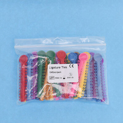1 Pack /1040 Pcs Dental Orthodontic Elastic Braces Rubber Ligature Ties