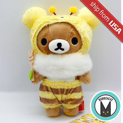Japan San-X Rilakkuma Relax Bear Bee Honey Forest Harvest Plush Kawaii Doll Toy