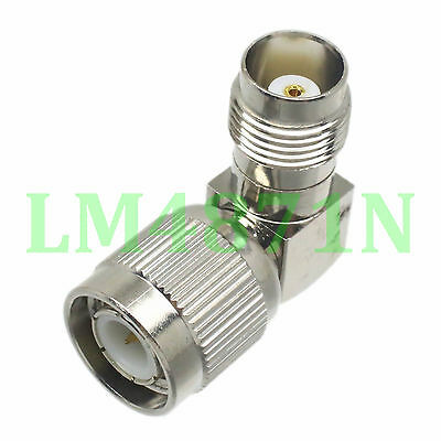 1pce Adapter 90° TNC plug male to TNC female jack RF connector right angle M/F