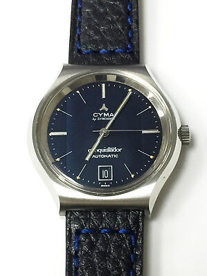Cyma By Synchron Conquistador Automatic Genuine Vintage Watch Swiss Made