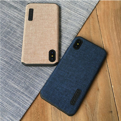 Creative Cloth Texture Soft Gel Shockproof Case Cover for iPhone 8 7 6s Plus X
