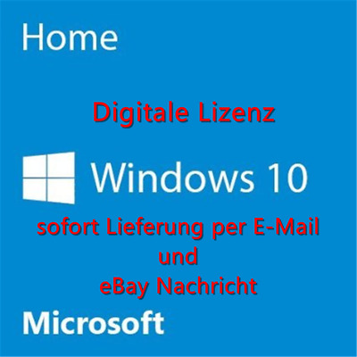 Microsoft Windows 10 Home ✔ Vollversion ✔ AKTION 32/64 Bit Product-Key Lizenz