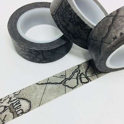 Washi Tape Black Navigation 15Mm X 10Mtr Scrap Planner Craft Wrap Mail Art