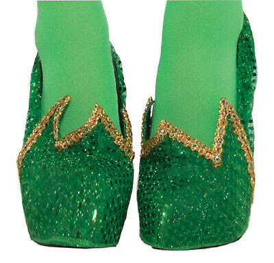 Green Sequin Fairy Costume Shoe Covers