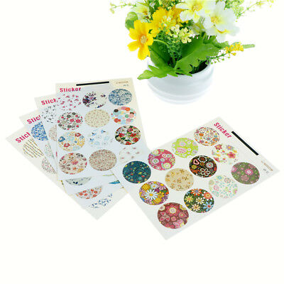 60pcs Floral Paper Label Sticker Seal Stickers for DIY Gift Cookie Packaging  X