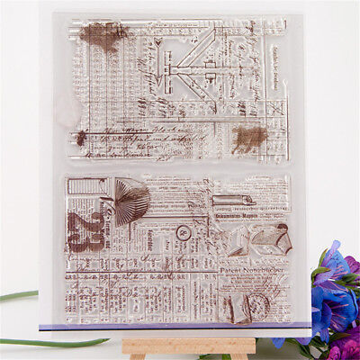 Antique background transparent silicone clear rubber stamp cling diary decor  X
