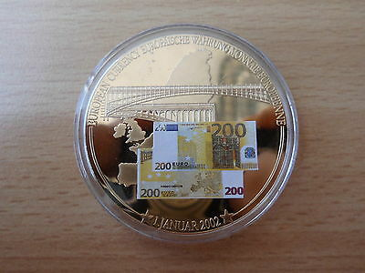 Medaille 200 Euro Banknote 50 mm Gigant  53 g