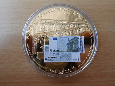 Medaille 5 Euro Banknote 50 mm Gigant  53 g