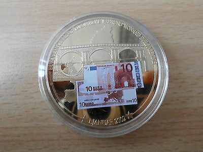 Medaille 10 Euro Banknote 50 mm Gigant  53 g