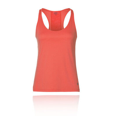 ASICS FEMMES LOOSE Jogging Top Sans Manches Débardeur Orange Sports ... c1bfd541a6e