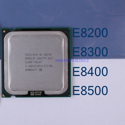Intel Core 2 Duo E8200 E8300 E8400 E8500 E8600 LGA/775 Processor CPU