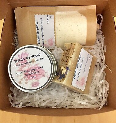 Handmade Gift Packs - Bath And Candle Products