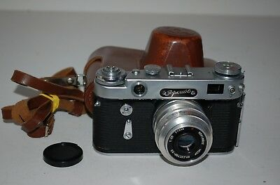 Zorki-6, Vintage 1960 Soviet Rangefinder Camera And Case. Serviced. No.600049479