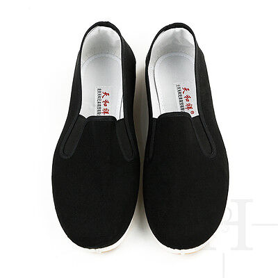 Kung Fu Shoes Slippers Dancing Tai Chi Shoes Rubber Sole Junior Adults UK STOCK