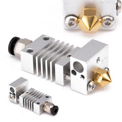 1.75/0.4mm Metal Hotend Kit Printhead Extruder Heat Nozzle For CR-10 3D Printer