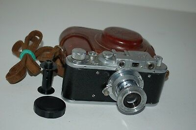 Zorki-1, Type D, Vintage 1955 Soviet Rangefinder Camera & Case. 594722. UK Sale