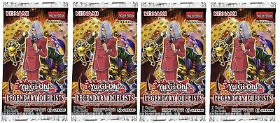 YuGiOh! Legendary Duelists: Ancient Millennium 1st Edition Booster Packs x4