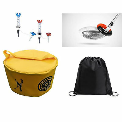 Posma Golf Hitting Tasche Trainingset mit Swing Ring Gewicht Bänder Magnet Tee