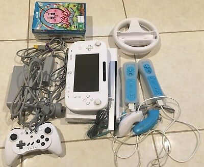 Nintendo Wii U basic console plus accesories and 5 games