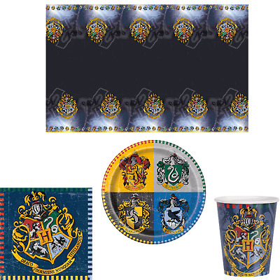 Harry Potter Hogwarts Birthday Party Tableware - Tablecover Plates Napkins Cups
