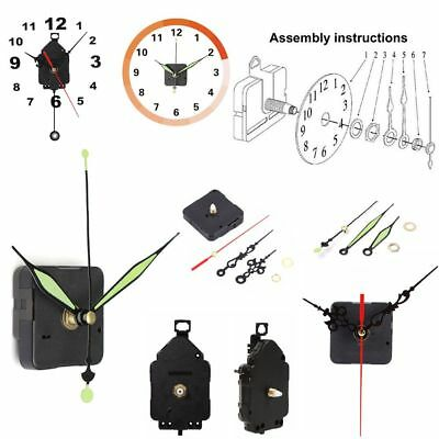 Mute Clock Movement Mechanism Parts + Hands Pendulum Repair Replacement