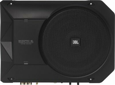 "JBL - BASSPROSL 8"" Loaded Subwoofer Enclosure with Integrated 125W Amp - Black"