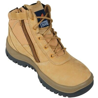 NEW MONGREL P Series Wheat Zip Sided Safety Boots 261050