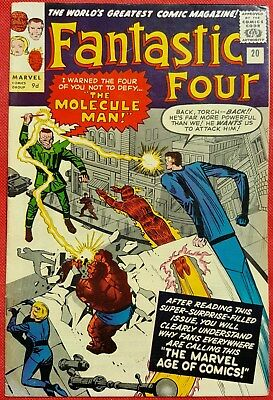 Fantastic Four 20 Marvel Silver Age 1963 1st appearance of the Molecule Man