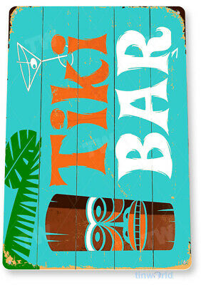 TIN SIGN C056 Tiki Bar Cabin Cottage Beach House Rustic Metal Decor