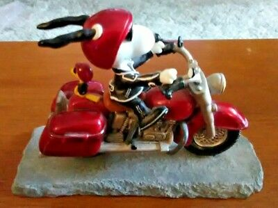 Peanuts Collection Joe Cool On A Motorcycle Figurine-Westland Giftware #8224
