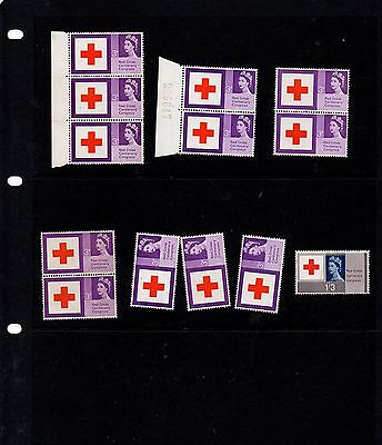 GB - 1963 Red Cross mix of mint postage stamps