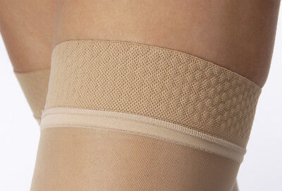 Jobst Ultrasheer 30-40 mmHg Thigh High Silicone Dotted Band OPEN toe