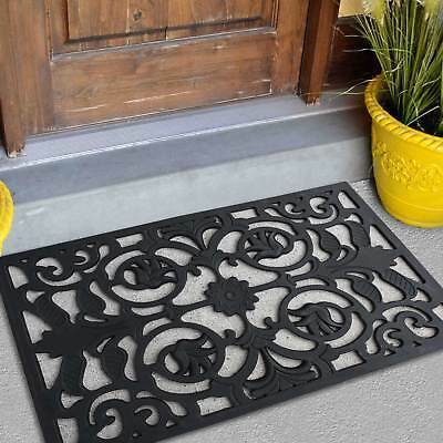 Merveilleux Black Door Mat Indoor Outdoor Mat Rug Rubber Utility Muds Dirts