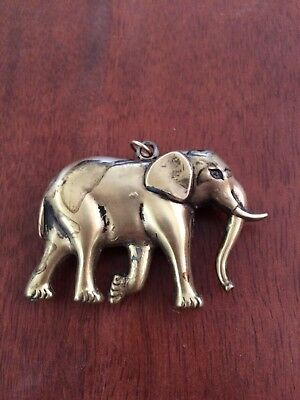 Elephant Pendanet   Brass?  Bronze?  Gold?