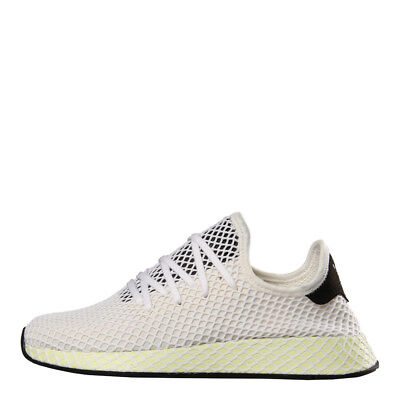 huge discount 2357a faa8d Neuf pour Hommes Adidas Deerupt Runner Baskets - Craie Textile Blanc