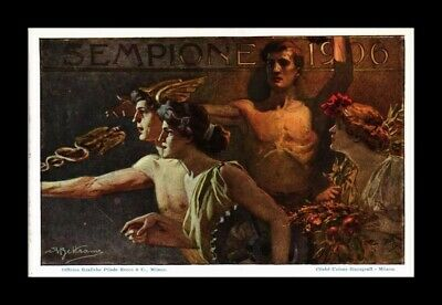 Dr Jim Stamps  Postcard 1906 Painting Italy Expo Cancel First Day