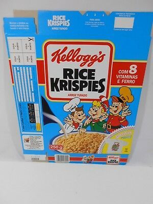 VTG 1992 Cereal Box KELLOGG'S Rice Krispies PORTUGAL 250g Collectible NOS #3